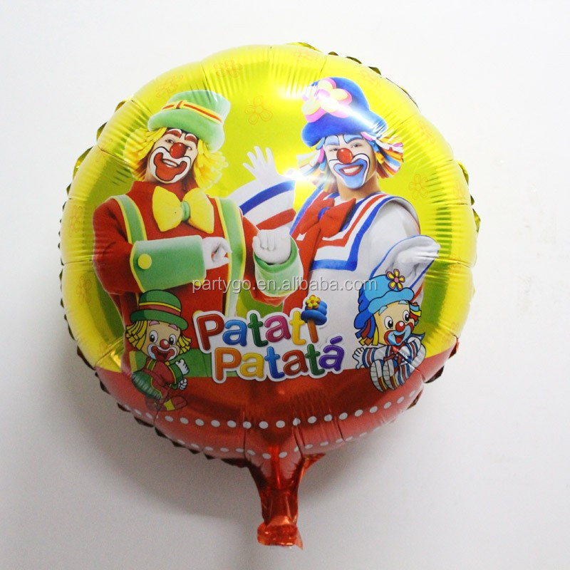 Inflatable Character clown Balloons Clown Shaped Helium Balloon 18 inch patati patata foil balloon