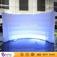 Active outdoor inflatable arc wall lighting tent with led lighting