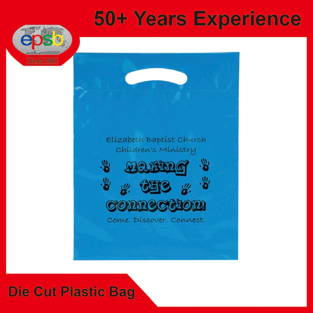 Eco Die Cut Patch Plastic Bag Direct Factory Clothing Garment