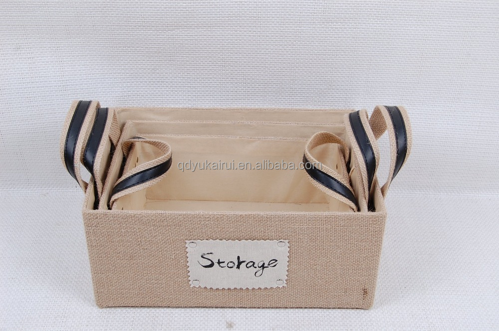 factory new style fashion jute box for home storage