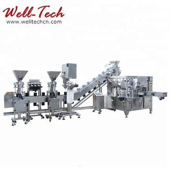 Well-Tech Machinery Rotary Weighing & Packaging Line For Solid Or Grain