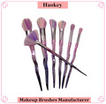 Guangzhou China supplier custom makeup brush 7 pieces/set spray style makeup brush set