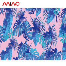 Seamless pattern natural scenery wall mural pink palm plant wallpaper for house