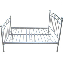 spring single bed furniture, cheap metal bed for bedroom,China 2017 design metal bed