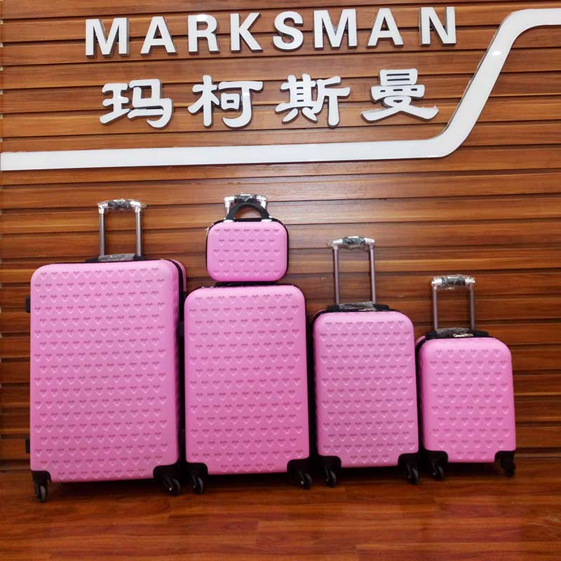 Marksman factory outlet Baoding Baigou Marksman 10PCS <strong>ABS</strong> Carry On Luggage Case