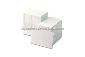Blank plastic pvc ID card BASIC card , white color original card 0.3mm