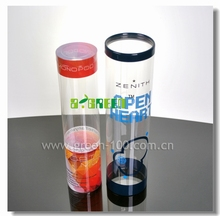 Clear High Transparency Colorful custom made PVC Plastic cylinder , plastic round box