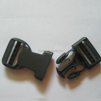Good Quality 40mm Wholesale Black Plastic Side Release Buckle