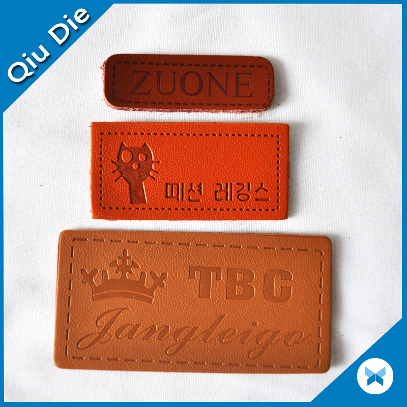 Wholesale High Quality Animal Lovely Leather Label For Clothing