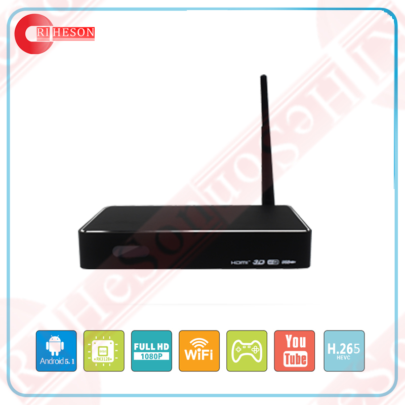 Android 5.1 Lollipop Quad Core Smart Tv Box with RK3229 2GB RAM 8GB ROM & HD digital tv receiver set top box