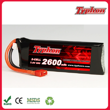 Rc Battery 7.4v 2s 2600mah 35c Lipo Battery Helicopter