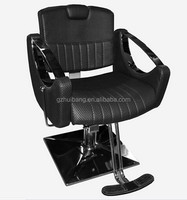 black color salon barber chair with footrest electroplating base styling chair HB-053-A1