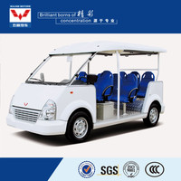 China brand new luxury electric sightseeing bus for sale