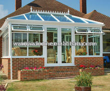 wanjia graceful outdoor plastic/pvc glass garden room