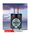 12 inch portable trolley speaker with wheels