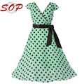 Cap sleeve ladies long dress polka dot elegant frock design dress with belt