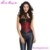 Online Shopping Ladies Red Sexy Steampunk Full Steel Boned Corset