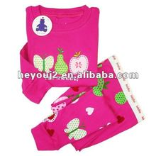 Latest design Custom knitted embroidered kids clothes tracksuit