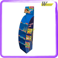 Multifunctional combined cardboard shop mall display stand for boxed instant noodles