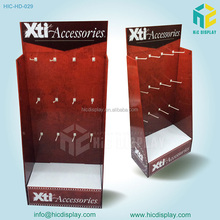 High Quality Cardboard Display Shelves Book Rack, cardboard hook display shelf