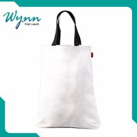 Refined and cultured plain white cotton canvas tote bag
