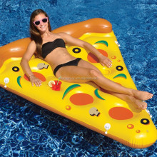 2017 wholesale large inflatable pizza slice pool float colorful pizza swim ring water fun float toys