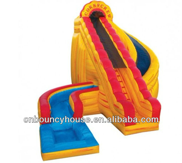 Giant inflatable water pool slide for kids new design kids water pool inflatable slide