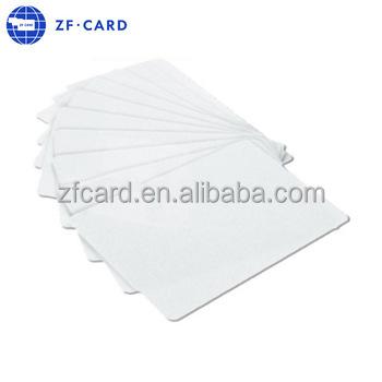 Plain Blank White Plastic PVC ID Card For Evolis Printer