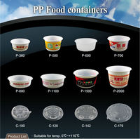 T PP5 P PP 360 500 600 700 800 cc ml takeaway disposable noodle bowl food container with lid