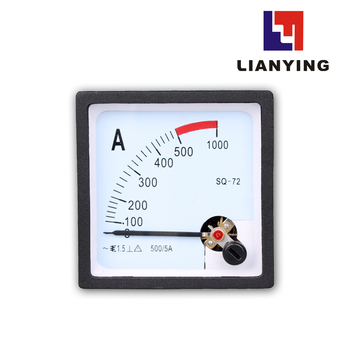 Mini Analog Ampere Meter 72*72 mm 5A Pointer Ammeter