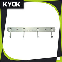 Wall mounted zinc chrome plated double towel bar