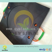 Crane foot bearing support/ UHMW-PE plastic outrigger pad/ ground mat