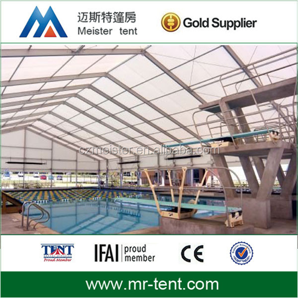Commercial aluminum swimming pool tent