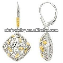 Cheapest promotional alloy dangle wing earring