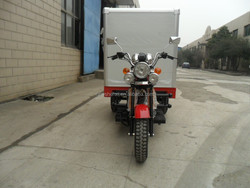 Big Power Closed Cargo Truck Three Wheel Cargo Van Tricycle For Sale