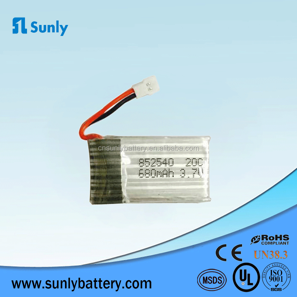 752540 rc lithium battery 680mah 20C for helicopter aircraft