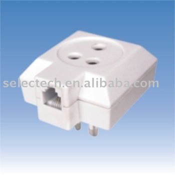 Modular cord for Sweden plug/jack to American modular jack Sweden telephone adapter SE-SD-05