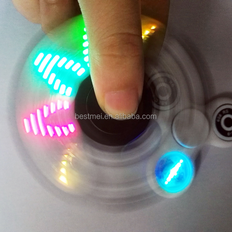 Led hand spinner toy with fidget spinner RGB led