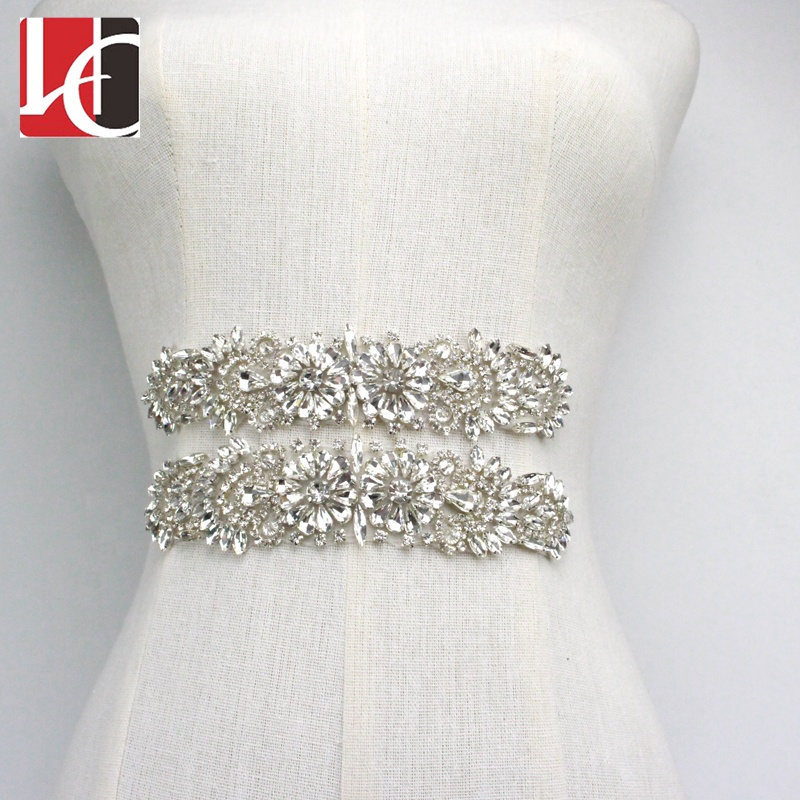 HC-5815 Hechun Popular bridal dress decoration applique <strong>crystal</strong>