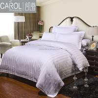 100%cotton 200T-400T 3 cm stripes hotel bedding sets
