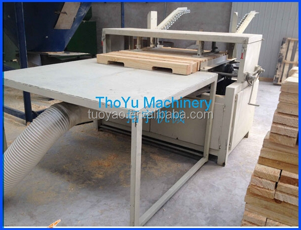 Automatic wooden pallet notching machine with alloy blades in alibaba