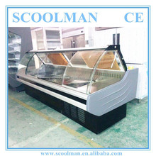 China Supplier Sliding Curved Glass Deli Counter