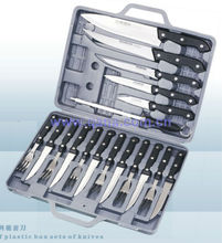 Portable aluminum alloy case 13pcs stainless steel knife set