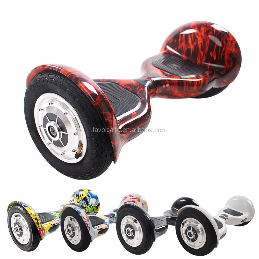 "10"" Two Wheels Self Balance Smart Bluetooth Scooter Electric Drifting Board Personal Adult Transporter with LED Light"