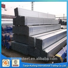 Hot selling pre galvanized square rectangular welded carbon steel pipe with low price