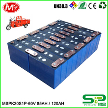 high power rechargeable 60v 120Ah LiFePO4 battery for electric three-wheeled cart