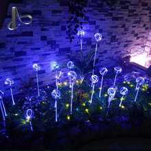 Hot sell color changing led fiber optic light solar garden light for festival decoration
