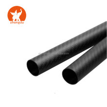 3K roll wrapped 25X23X500 mm 100% twill matte streamline carbon fiber tube connectors