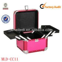 Professional aluminum beauty box vanity case with key lock