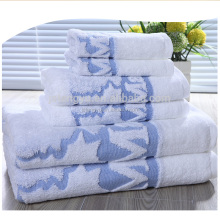 factory price wholesale luxury 100% cotton jacquard terry white 5 star hotel bath towel set with customized embroidered logo